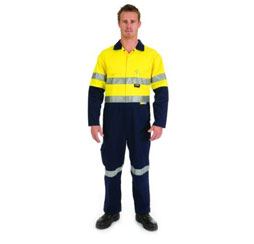 LIGHTWEIGHT COTTON COVERALL WITH REFLECT TAPE - Brand Expand