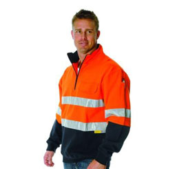COTTON FLEECE JUMPER WITH REFLECTIVE TAPE -Brand Expand